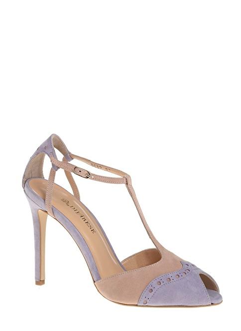D by Divarese %100 Deri Klasik Ayakkabı Lila